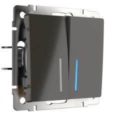 Выключатель  WL07-SW-2G-2W-LED