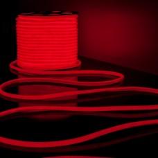 Светодиодная лента Гибкий неон 220V 9,6W 144Led 2835 IP67 круглый красный, 50 м